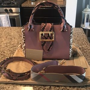 NWT Burberry Buckle Handbag